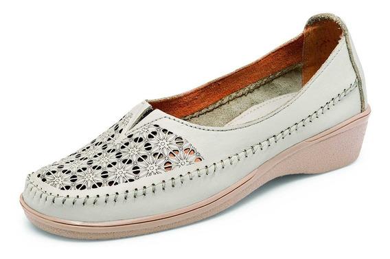 Zapato De Descanso Con Figuras Color Hueso Lady Veronica