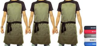3 Pack Mandil-delantal De Gabardina Para Chef, Restaurante