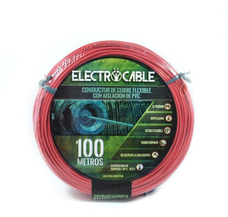 Cable Unipolar 6mm Electrocable Rollo X 50 Metros Rojo