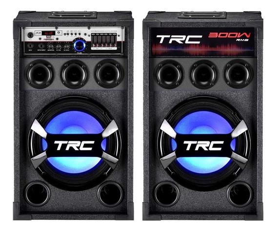 Caixa Amplificada Trc 368 Bluetooth Usb Rádio Fm Bivolt 300w