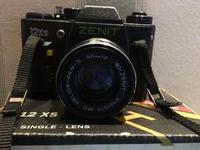 Câmera Zenit 12xs 58mm F/2 Manual, Caixa E Alça Originais.