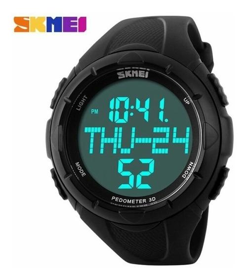 Relógio Digital Pedometer 3d Skmei 5atm Esportivo 1122 Preto