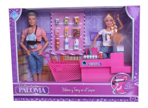 Muñeca Paloma Y Tomy En El Supermercado