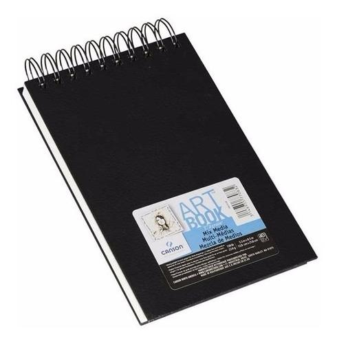 Caderno Sketch Book Mix Media Canson 13x21 40fls 224grs