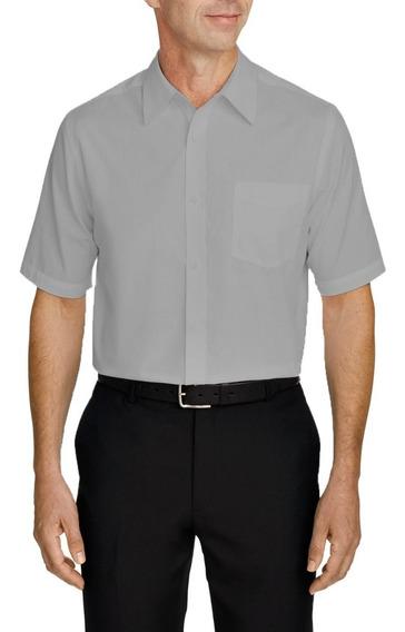 Camisa Social Masculina Manga Curta Branca Médico Dentista