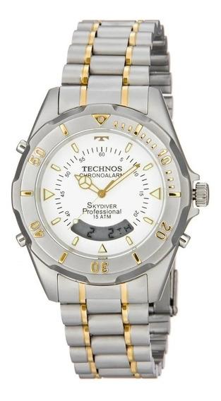 Relógio Technos T205fq/b Skydive Prata Original