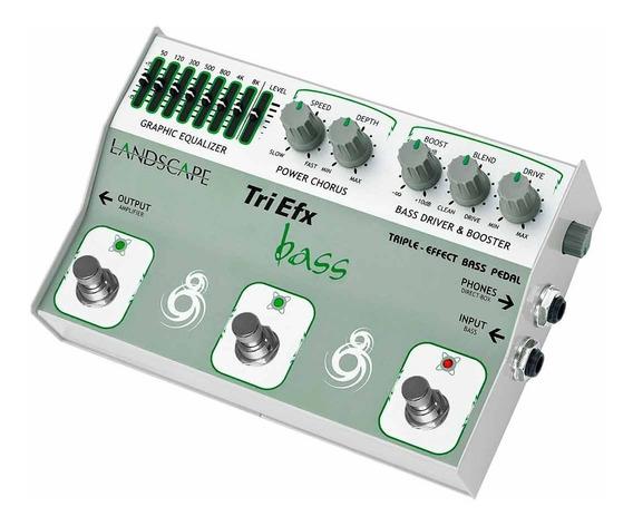 Pedal Contrabaixo Efeito Triplo Tribs Triefx Bass Landscape