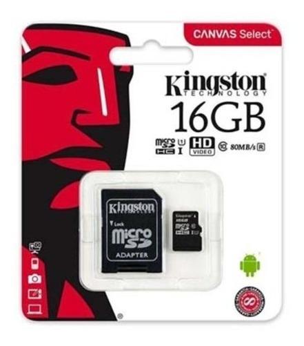 Cartão De Memória Class 10 Kingston 16gb + Original