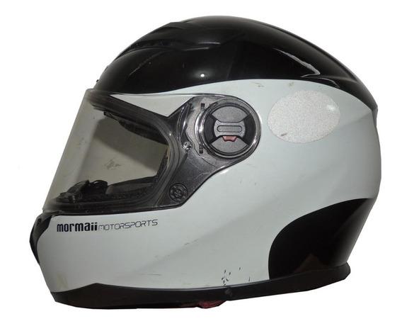 Capacete Para Moto Mormai Branco Motorsports
