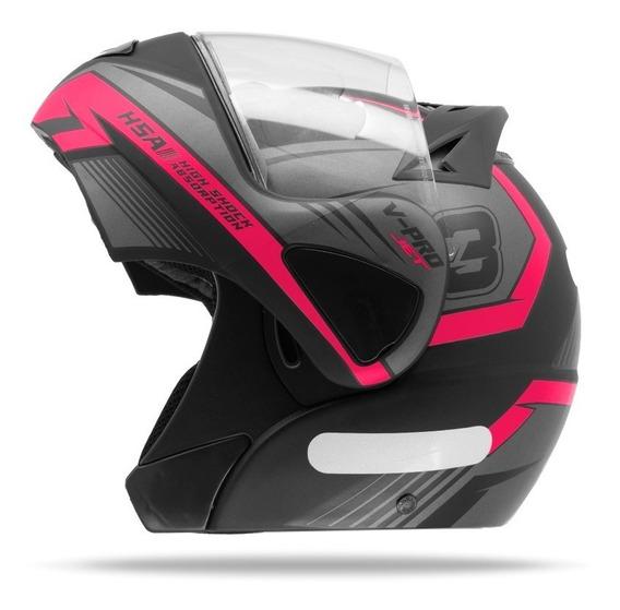 Capacete Robocop Feminino Pro Tork V Pro Jet 3 Rosa