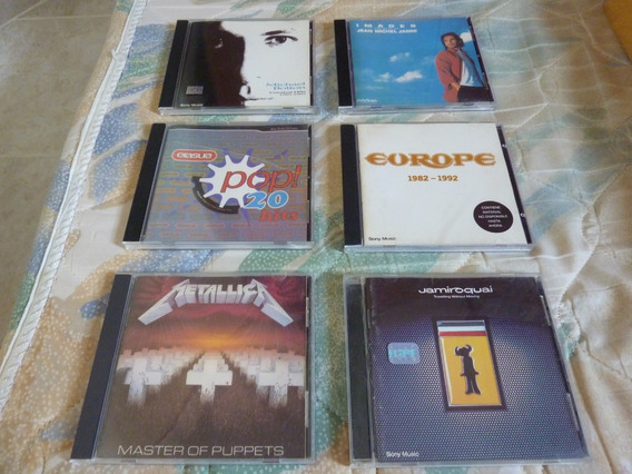 Lote Cd Metallica Importado Usa Jamiroquai Europe Jarre Cds