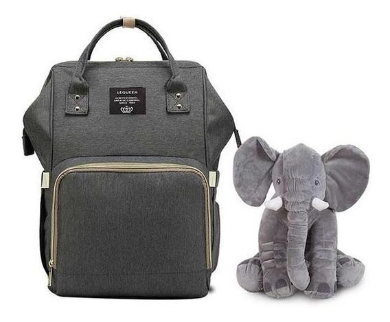 Bolsa Mochila Maternidade Lequeen + Elefante