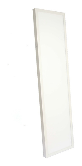 Luminaria Led Retangular Plafon Sobrepor 48w Branco Quente