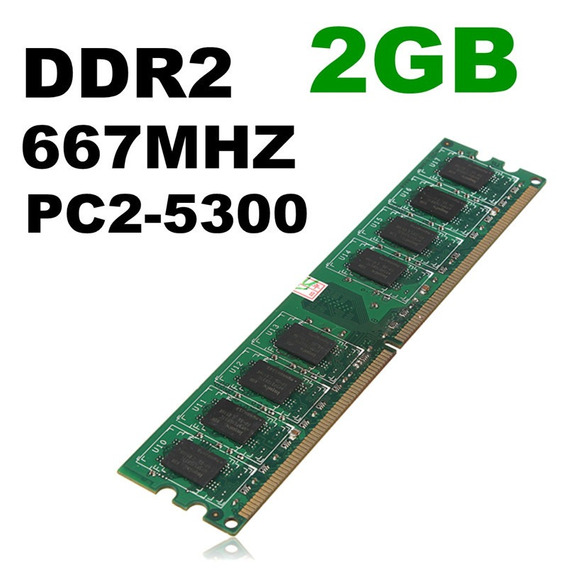 Memória Ram 2gb Ddr2-667 667mhz Pc2-5300 240-pin Não - Ecc D