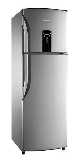 Geladeira frost free Panasonic NR-BT40 aço inoxidável com freezer 387L 110V