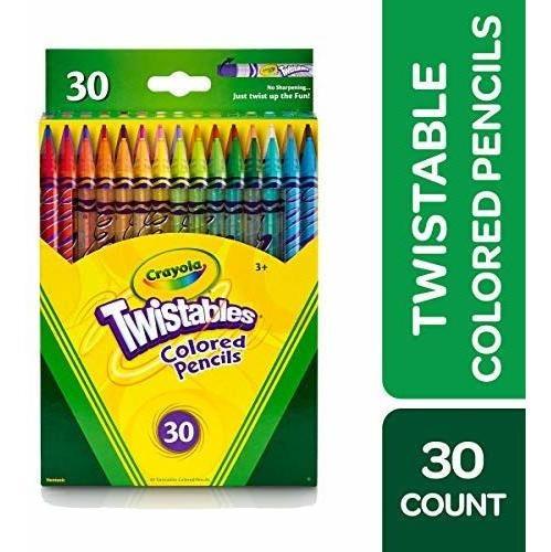 Crayola Twistables Lápices De Colores, 30 Colores Surtidos,