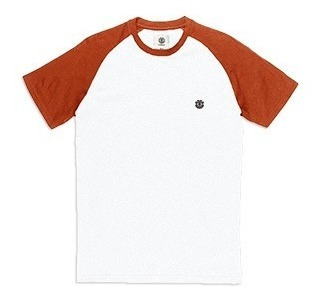 Remera M/c Element Basic Raglan Tee Orange Hombre Merembas