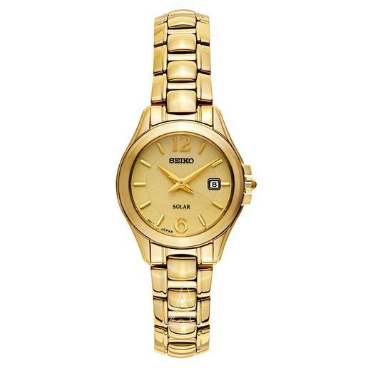 Relógio Feminino Seiko Sut236 - Solar - Dourado