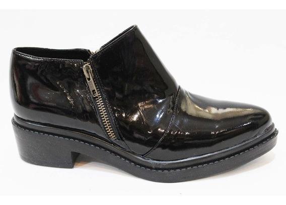 Zapato Mujer Cuero Charol Cierre Art 30. Marca San Marino