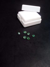 Lote 6 Piedras Esmeralda Natural 0.9 Quilates Corte Gota