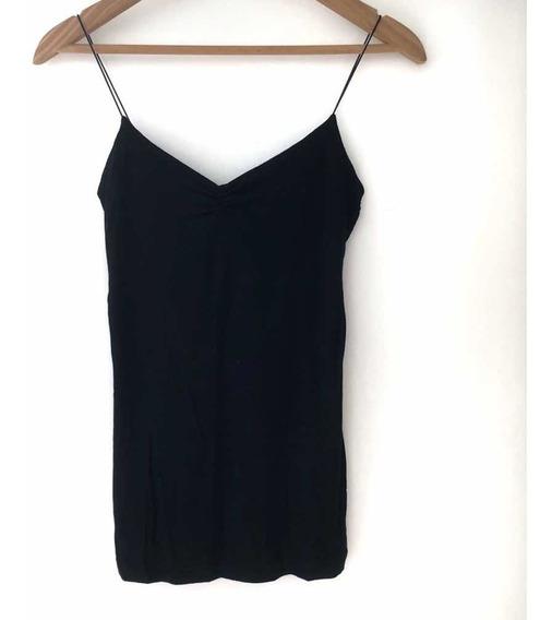 Musculosa Negra Marca Zara - Talle M - Elastizada