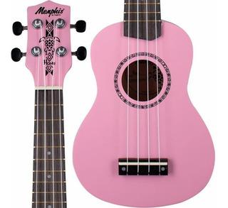 Ukulele Rosa Soprano Madeira Honu By Tagima - Flamingo Pink