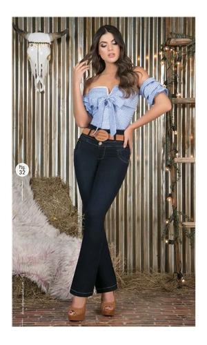 Jeans Y Pantalones Mujer Tiro Alto Bota Campana Mercado Libre
