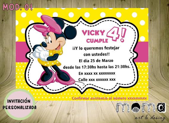 Invitaciones Imprimibles Y Digitales - Minnie Mouse