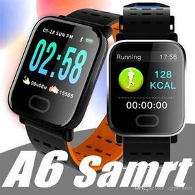 Relógio Smartwatch A6 Pressão Arterial Monitor Cardíaco 12x