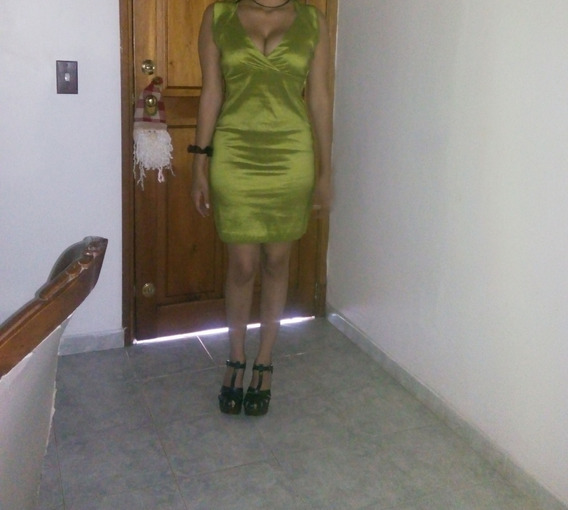 Vestido Verde Corto Strech