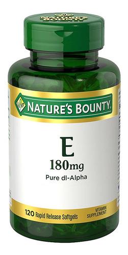 Nature´s Bounty Vitamina E 180 Mg X 120 Capsulas Blandas