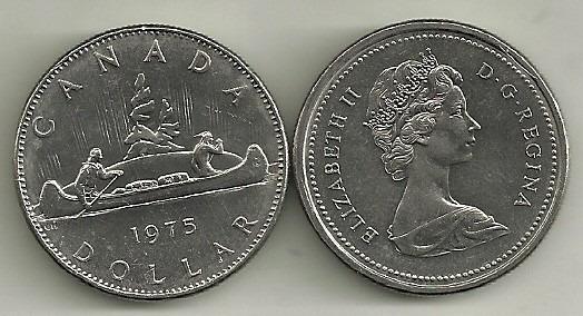 Moneda Canada 1 Dolar Año 1975 Sin Circular