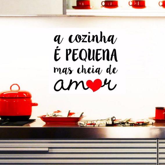 Adesivo De Parede Cozinha Cheia De Amor 52x55cm