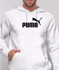 891e4f54229d1 Blusa Moletom Puma Azul E Branco - Calçados, Roupas e Bolsas no ...