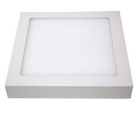 Kit 6 Plafon Painel Luminaria Led Sobrepor Quadrado 12w