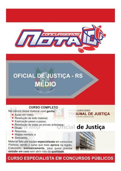 Apostila Concurso De Oficial De Justiça + Vídeo Aulas