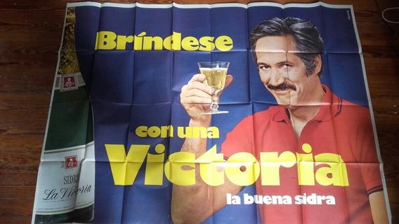 Afiche Coleccion Antiguo Vino Sidra Publicidad Precio X Uni