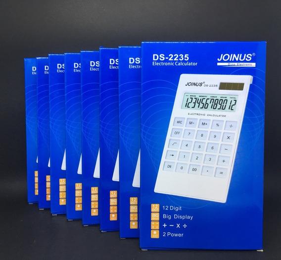 Kit C/ 8 Calculadora Eletrônica Solar 12 Digitos Joinus