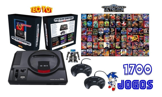 Oferta Mega Drive Tectoy 1700 Jogos C/ 2 Controles F. Gratis
