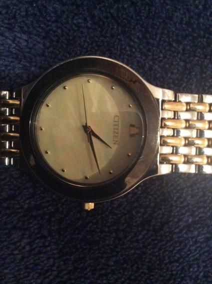 Reloj Citizen De Oro Funcionando (a Tratar) Acepto Btc