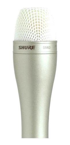 Microfone Champagne Shure Sm63l