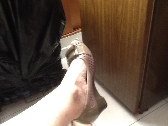 Zapatos Picadilly Color Rosa Y Gris Num. 39 Con Hebilla