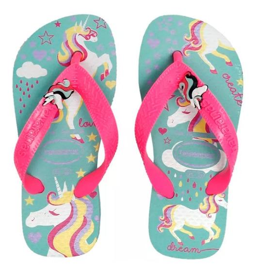 Ojotas Sandalias Havaianas Niña Fantasy Unicornio 30% Off