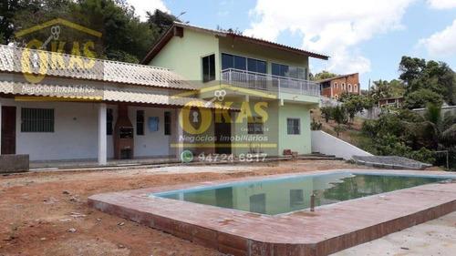 Imagem 1 de 5 de Chácara Com 3 Dormitórios À Venda, 850 M² Por R$ 470.000,00 - Jardim Das Acacias - Santa Isabel/sp - Ch0044