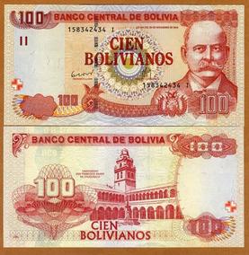 Bolívia 100 Bolivianos 2012 P. New Fe Cédula Let I Tchequito