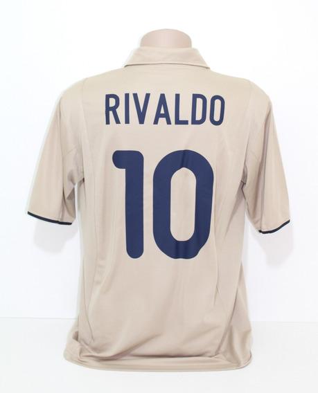 Camisa Original Barcelona 2001/2002 Away #10 Rivaldo