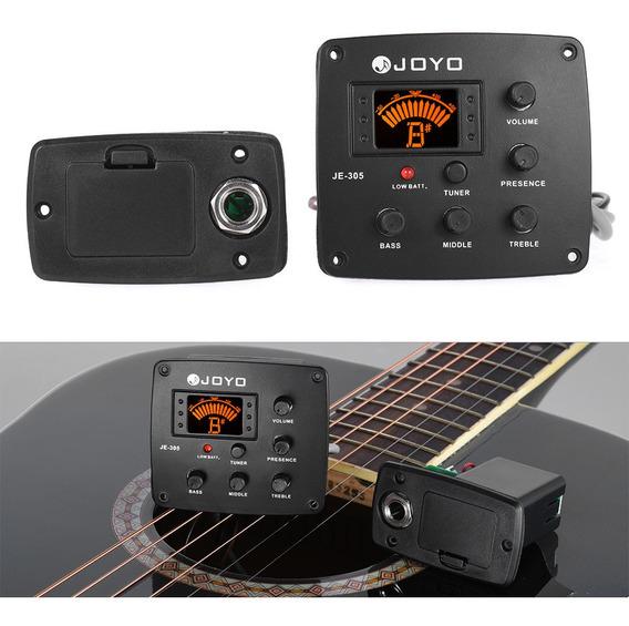 3*joyo Je-305 Guitarra Acústica Piezo Captura Preamp 4-band