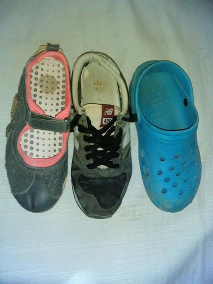Lote 3 Pares Zapatillas N° 35,5