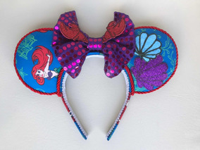 Tiara Orelha Minnie Mickey Disney - Ariel - A Pequena Sereia