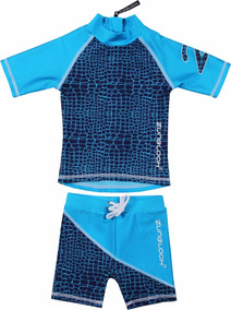 c8a0ff7e9dd Traje De Baño Zunblock Con Filtro Uv Azul Marino / Turquesa